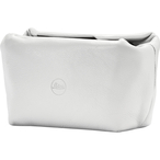Softpouch magnetic-closer, size S, leather, white
